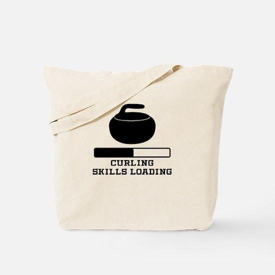 Curling Skills Loading Tote Bag