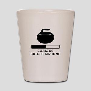 Curling Skills Loading Shot Glass