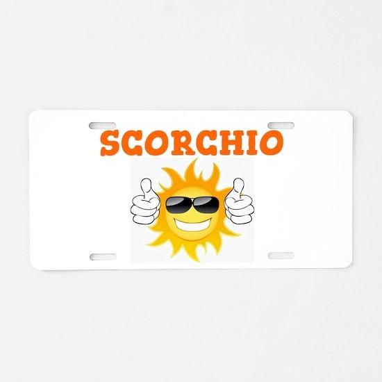 SCORCHIO - SUNSHINE! Aluminum License Plate