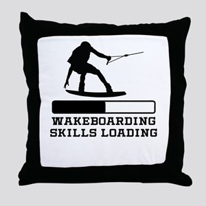 Wakeboarding Skills Loading Throw Pillow