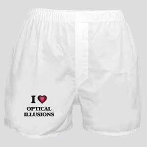 I Love Optical Illusions Boxer Shorts