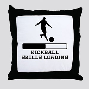 Kickball Skills Loading Throw Pillow