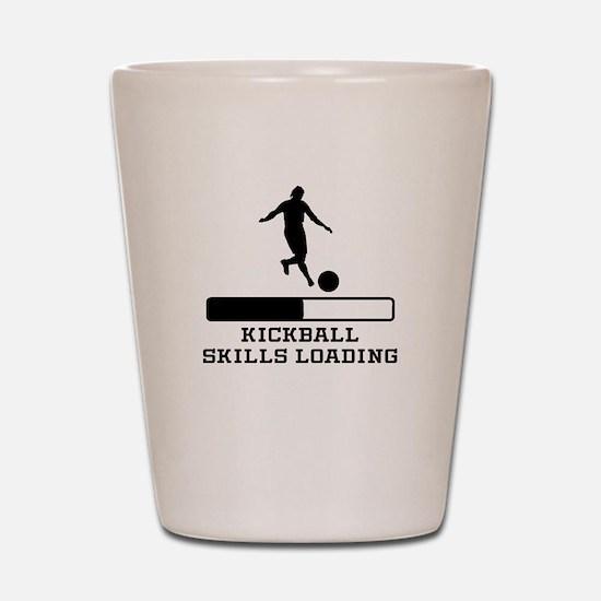 Kickball Skills Loading Shot Glass