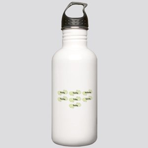 Day Name Scrolls Stainless Water Bottle 1.0L