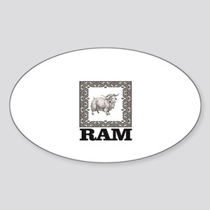 framed ornate ram Sticker