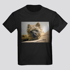 Pensive Cairn Terrier Kids Dark T-Shirt