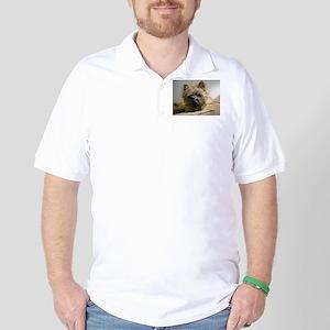 Pensive Cairn Terrier Golf Shirt