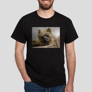 Pensive Cairn Terrier Dark T-Shirt