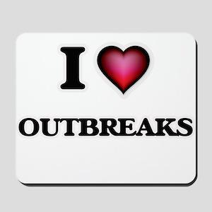 I Love Outbreaks Mousepad