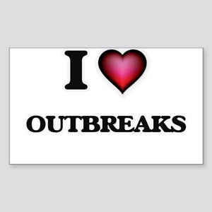 I Love Outbreaks Sticker