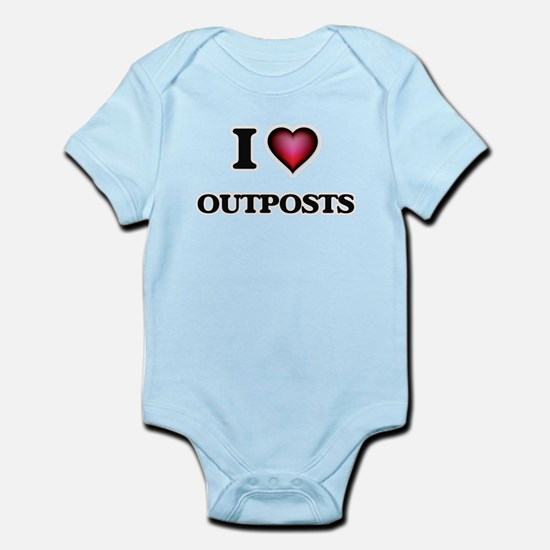 I Love Outposts Body Suit