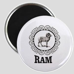 big horned sheep artwork Magnets