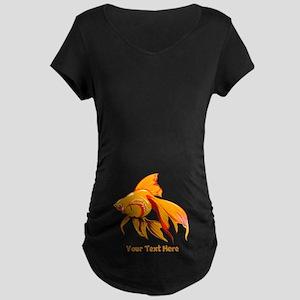 Goldfish Personalized Maternity Dark T-Shirt