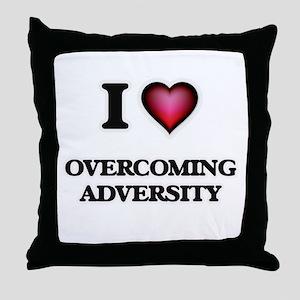 I Love Overcoming Adversity Throw Pillow