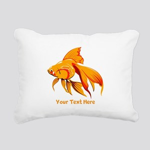 Goldfish Personalized Rectangular Canvas Pillow