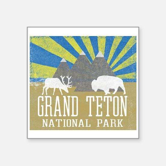 Grand Tetons National Park Blue Sunrise Sticker