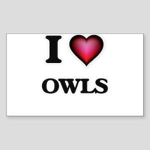I Love Owls Sticker