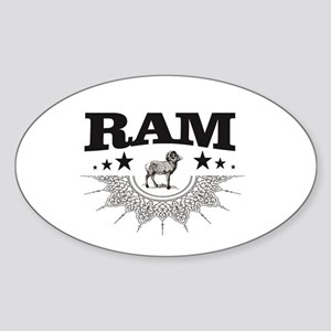standing ram at battle Sticker