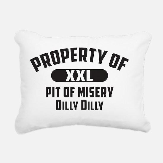 Funny Misery Rectangular Canvas Pillow
