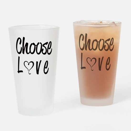 Funny Choose kind Drinking Glass