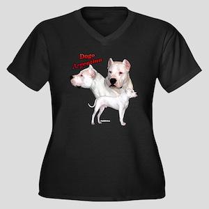 Dogo Trio2 Women's Plus Size V-Neck Dark T-Shirt