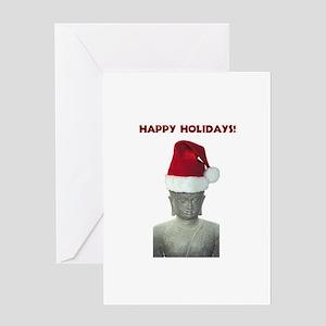 Santa Buddha Greeting Card