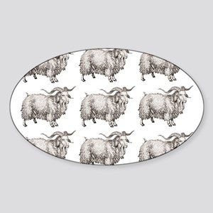 more open farm sheep Sticker