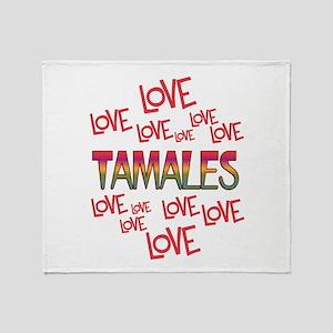 Love Love Tamales Throw Blanket