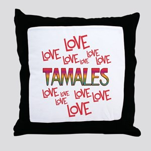 Love Love Tamales Throw Pillow
