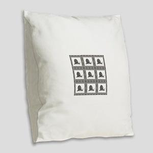 cubes of snails bunched Burlap Throw Pillow
