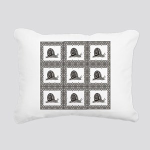 cubes of snails bunched Rectangular Canvas Pillow