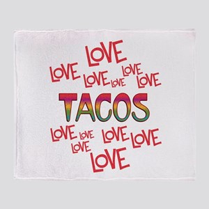 Love Love Tacos Throw Blanket