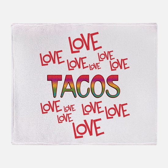 Love Love Tacos Throw Blanket