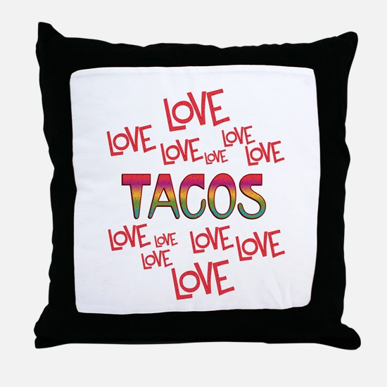 Love Love Tacos Throw Pillow