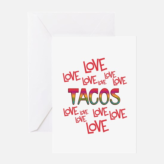 Love Love Tacos Greeting Card