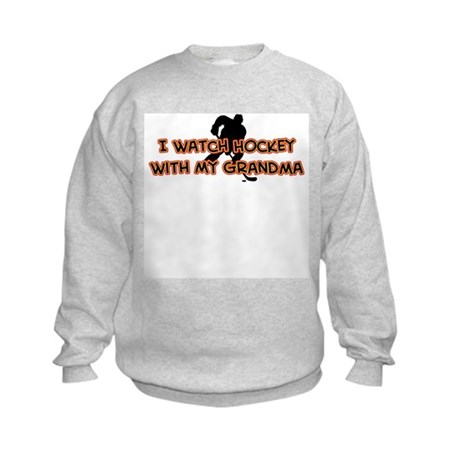 Chicago Hockey Grandma Kids Sweatshirt