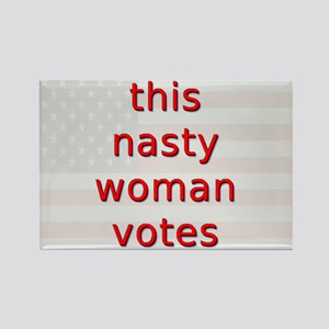 This Nasty Woman Votes Rectangle Magnet