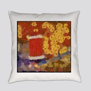 Haute Couture Klimt style Everyday Pillow