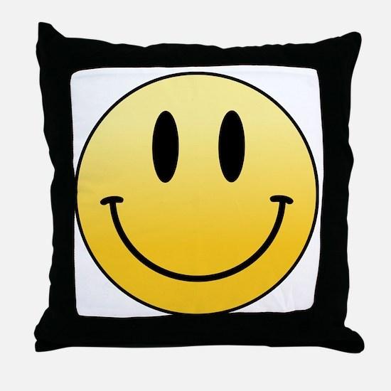 Unique Smileys Throw Pillow