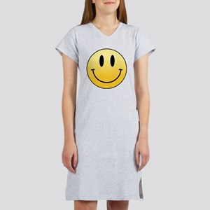 Yellow Smiley Face Women's Nightshirt T-Shirt
