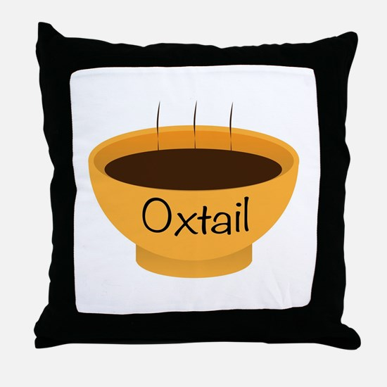 Oxtail Soup Bowl Throw Pillow