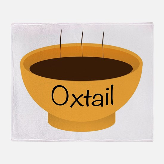 Oxtail Soup Bowl Throw Blanket