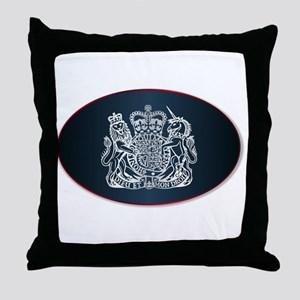 Coat of Arms of the United Kingdom Throw Pillow