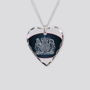 Coat of Arms of the United Ki Necklace Heart Charm