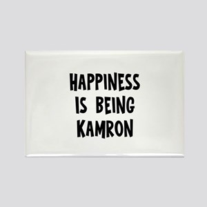 Happiness is being Kamron Rectangle Magnet