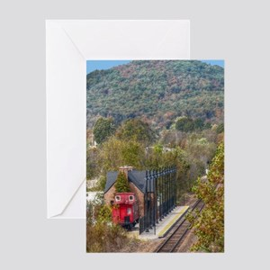 Train Station Greeting Cards