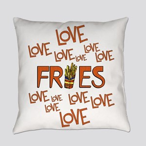Love Love Fries Everyday Pillow