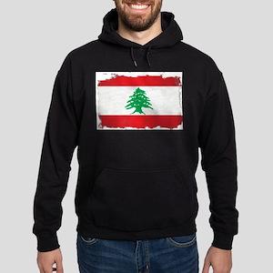 Lebanon Grunge Flag Hoodie (dark)