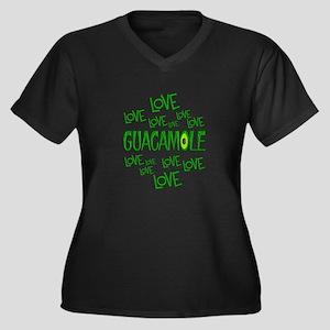 Love Love Gu Women's Plus Size V-Neck Dark T-Shirt