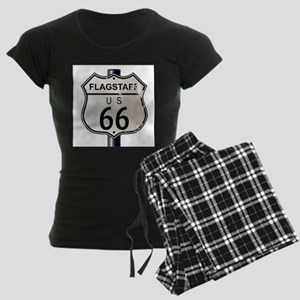 Flagstaff Route 66 Sign Women's Dark Pajamas